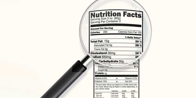 Informazioni nutrizionali delle etichette